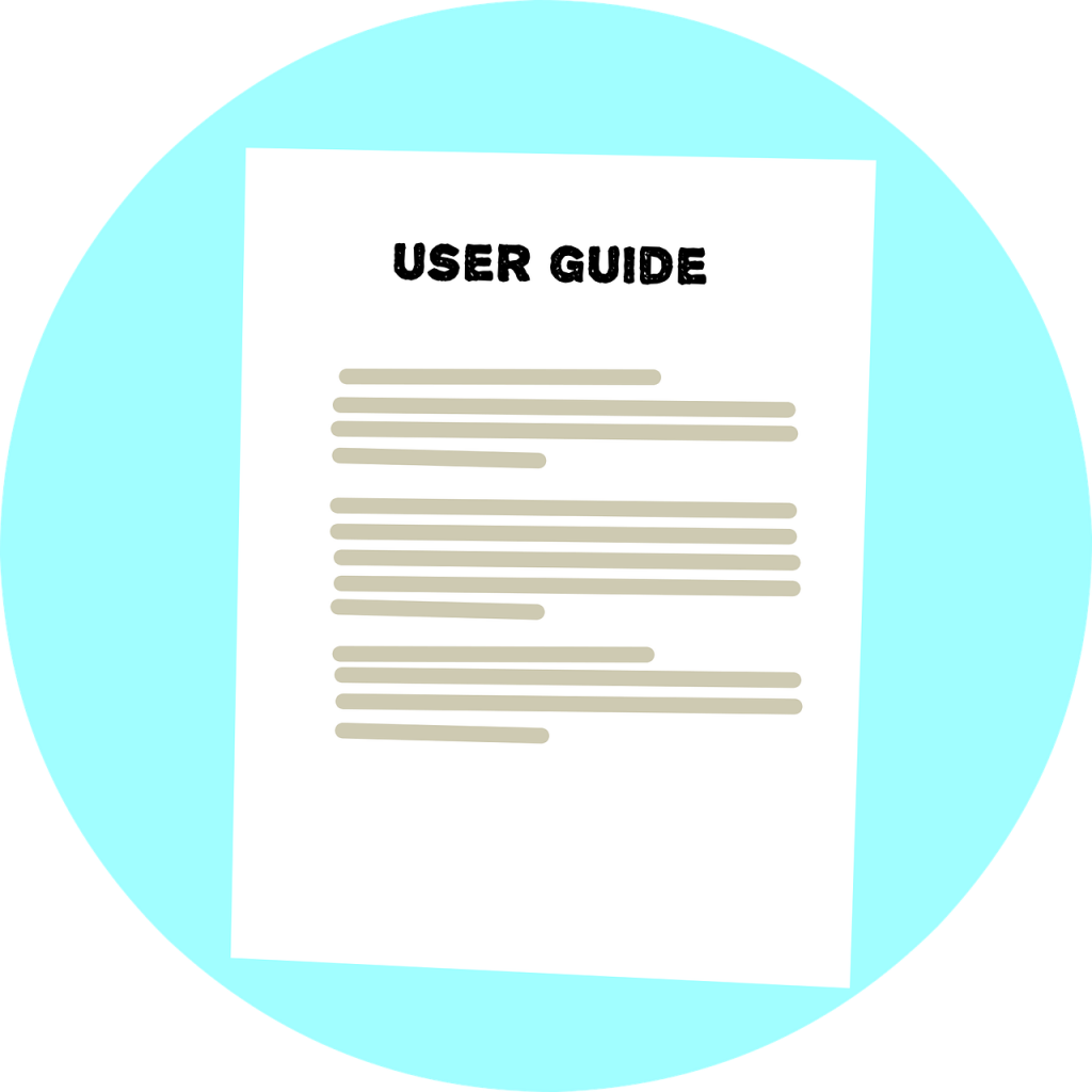 user guide, instructions, text